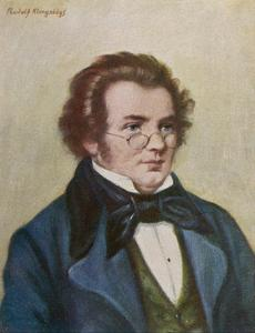 Franz Schubert by Rudolf Klingsbogl
