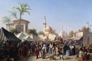 The Turkish Market by Rudolf von Alt