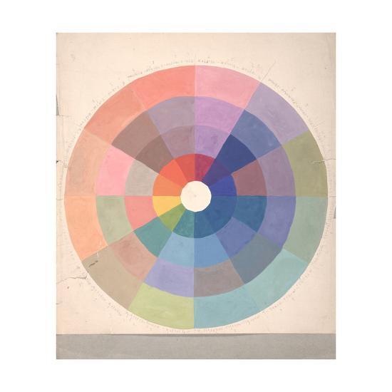 Rudolph Schaeffer, Color Wheel; Archive of American Art--Premium Giclee Print