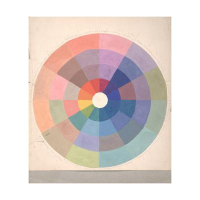 Rudolph Schaeffer, Color Wheel; Archive of American Art--Art Print