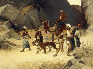 The Tiger Hunt, 1896 by Rudolphe Ernst