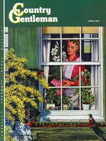 """""""Signs of Spring,"""" Country Gentleman Cover, April 1, 1947"""