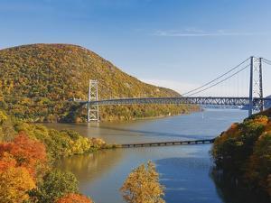 Bear Mountain Bridge spanning the Hudson River by Rudy Sulgan
