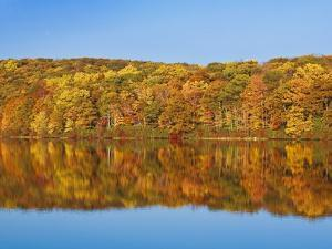 Bear Mountain State Park in autumn by Rudy Sulgan