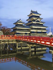Footbridge spanning moat at Matsumoto Castle by Rudy Sulgan