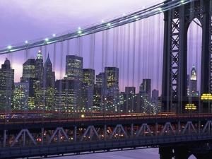 Manhattan Bridge and Skyline by Rudy Sulgan