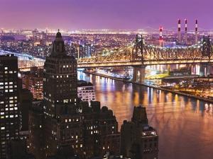 Queensborough Bridge and Roosevelt Island at Twilight by Rudy Sulgan