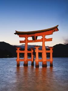 Torii Gate at the Itsukushima Jinga Shrine by Rudy Sulgan