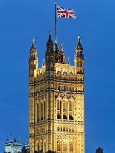 Victoria Tower and Houses of Parliament by Rudy Sulgan