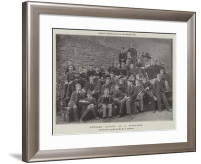 Rudyard Kipling as a Schoolboy--Framed Giclee Print