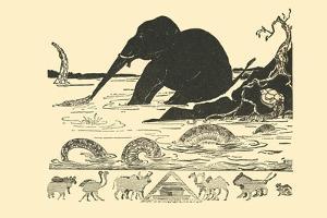 Crocodile Versus Elephant by Rudyard Kipling