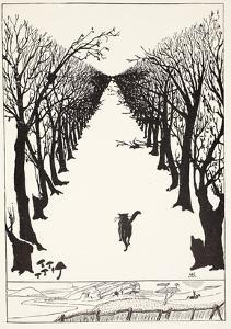 The Cat That Walked by Himself, Illustration from 'Just So Stories for Little Children' by Rudyard Kipling