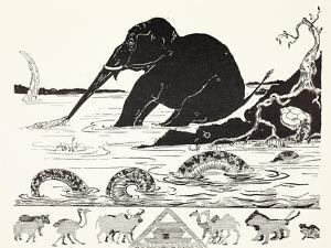 The Elephant's Child Having His Nose Pulled by the Crocodile by Rudyard Kipling