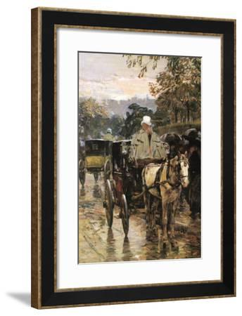 Rue Bonaparte-Childe Hassam-Framed Art Print