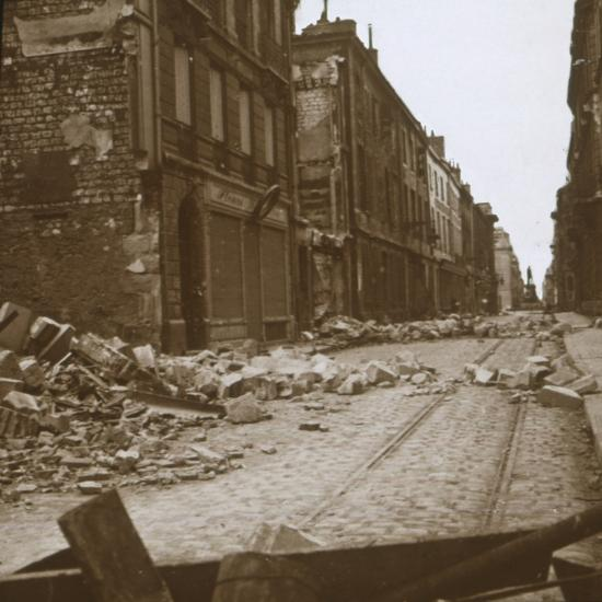 Rue Cérès, Reims, northern France, c1914-c1918-Unknown-Photographic Print