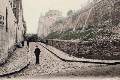 Rue Cortot, Old Montmartre, Paris, 1900--Photographic Print