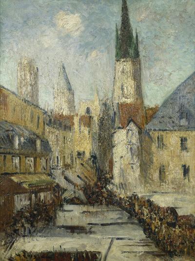 Rue De L'Epicerie Et La Cathedrale De Rouen, C.1929-Gustave Loiseau-Giclee Print