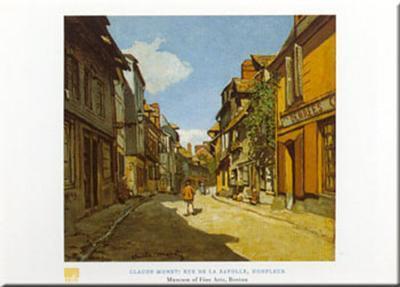 Rue De La Bavolle-Claude Monet-Art Print