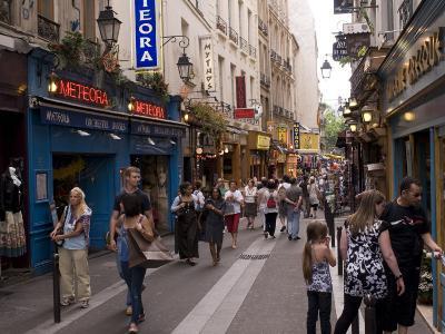 Rue De La Huchette, Quartier Latin, Paris, France, Europe-Pitamitz Sergio-Photographic Print