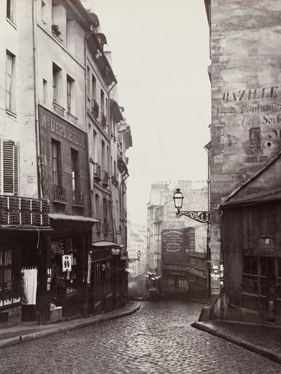 Rue De La Montagne-Sainte-Geneviève Near the Intersection of Rue Laplace, 1865-69-Charles Marville-Photographic Print