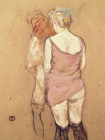 Rue de Moulins: The Medical Inspection-Henri de Toulouse-Lautrec-Giclee Print