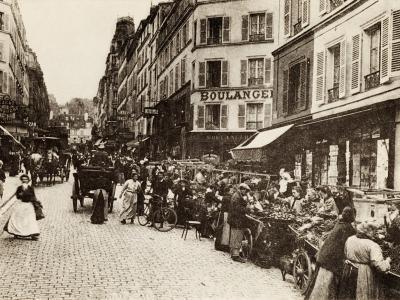 Rue Lepic, Montmartre, Paris, 1880--Photographic Print
