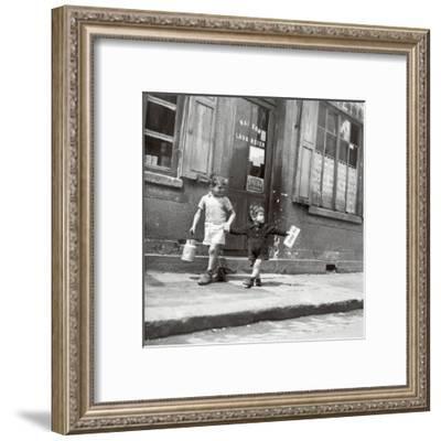 Rue Marcellin Berthelot, Choisy-Le-Roi, c.1945-Robert Doisneau-Framed Art Print