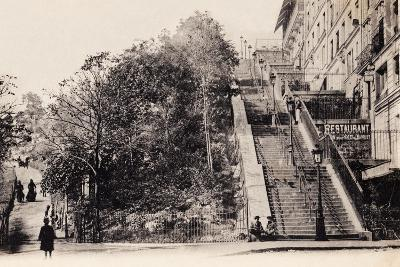 Rue Muller, Montmartre, Paris, 1890--Photographic Print