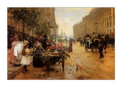 Rue Royale, Paris-L^ Shryver-Art Print