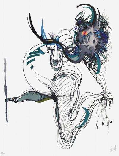 Rue Saint Denis I-Raymond Moretti-Limited Edition