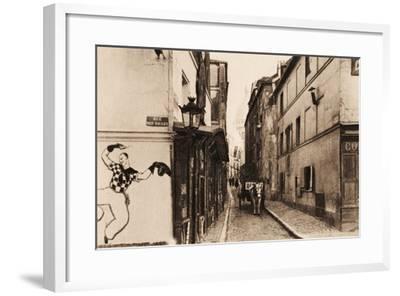 Rue Saint Rustique with Sacre-Coeur, Montmartre, Paris, 1890--Framed Photographic Print