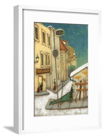 Rue St-Vallier, Québec-Steven Lamb-Framed Art Print