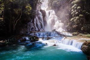 Kuang Si Waterfall, Luang Prabang, Laos by rueangrit