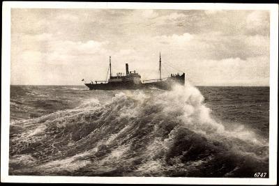Rügenwalde Pommern, Schiff Auf Hoher See, Welle--Giclee Print