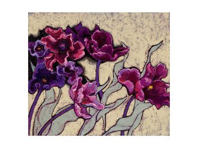 Ruffled Tulips Beige-Shirley Novak-Art Print