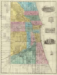 Guide Map of Chicago, c.1869 by Rufus Blanchard