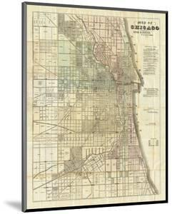 Map of Chicago, c.1857 by Rufus Blanchard