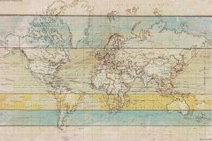 Wood Panel Map by Rufus Coltrane