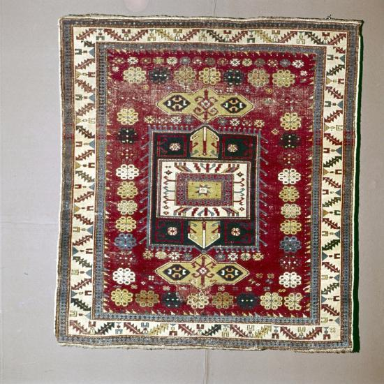 Rug with Pattern of terraced garden from the Caucasus, 18th century-Unknown-Giclee Print