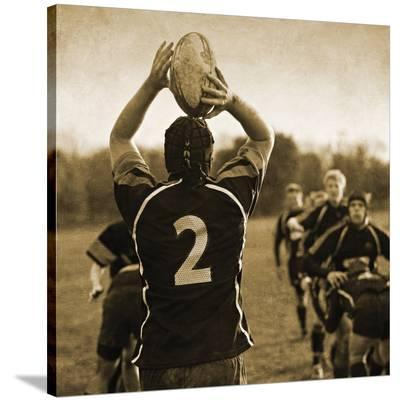 Rugby Game I-Pete Kelly-Stretched Canvas Print