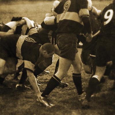 Rugby Game II-Pete Kelly-Giclee Print