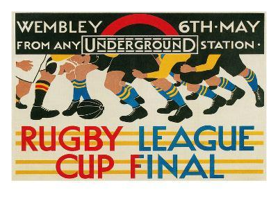 Rugby League Cup Final at Wembley--Art Print