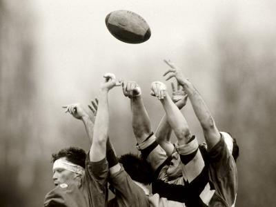 Rugby Player in Action, Paris, France--Photographic Print