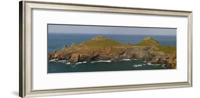Rugged Cliffs at Rumps Point, Near Padstow, on the Atlantic Coast of Cornwall, England-Nigel Hicks-Framed Photographic Print