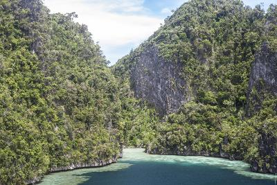 Rugged Limestone Islands Surround Corals Growing in a Gorgeous Lagoon-Stocktrek Images-Photographic Print