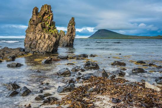 Rugged Volcanic Landscapes Along the Strandir Coast, West Fjords, Iceland-Luis Leamus-Photographic Print
