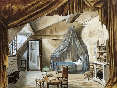 Original Set Design Sketch for Fourth Act of Opera La Boheme