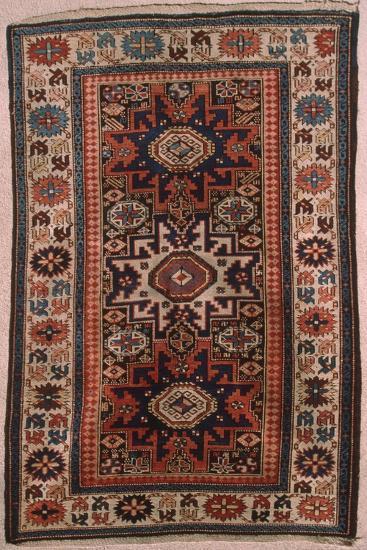 Rugs and Carpets: Caucasus Region, Lesgi Carpet--Giclee Print