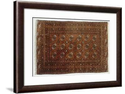 Rugs and Carpets: Iran - Khorasan - Silk Carpet--Framed Giclee Print