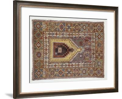 Rugs and Carpets: Turkey - Anatolia - Mudjur Carpet--Framed Giclee Print